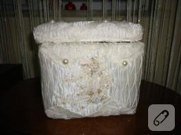 Bebek hazırlıkları, dantelle kutu kaplama