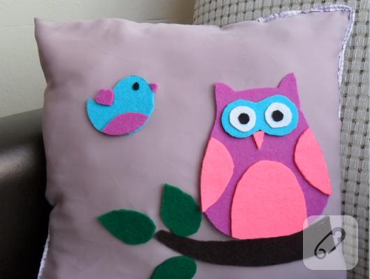baykuşlu yastık