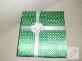Kumaş kaplamalı hediye kutusu