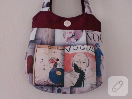 Yazlık kumaş çanta