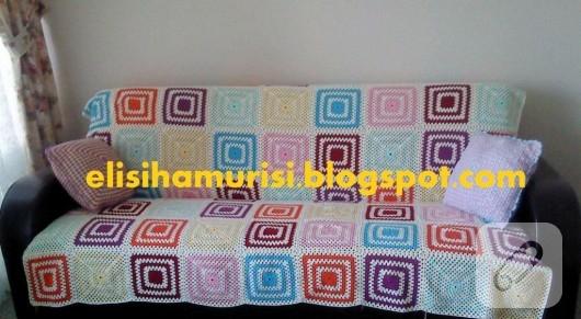 Tığ işi motifli battaniye
