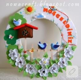 Kuş evli kapı süsü