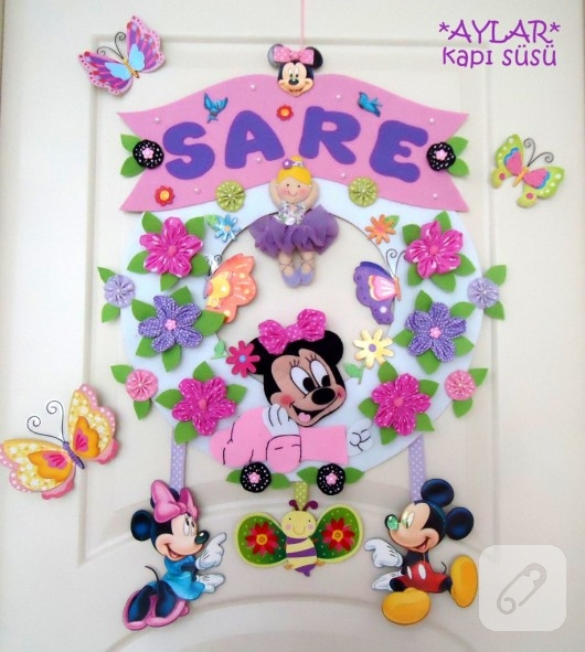 Minnie Mouse kapı süsü