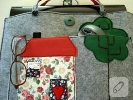 Bilgisayar çantası (keçe)
