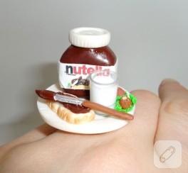 Minyatür Nutella kolye