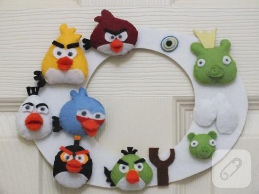 Angry Birds kapı süsü