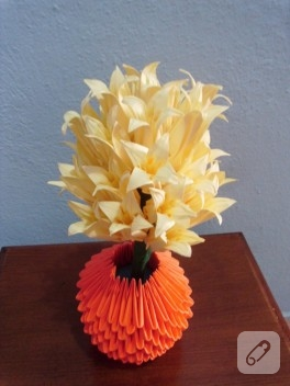 Origami çiçek demeti