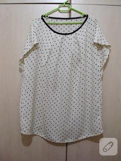 Puantiyeli yazlık bluz