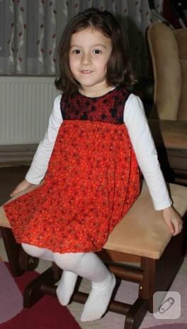 Kızımın şifon elbisesi