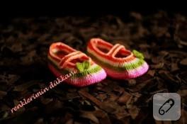 Baharlık örgü bebek babeti