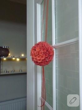 Dekoratif top çiçeğim