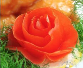 domates kabuğundan gül