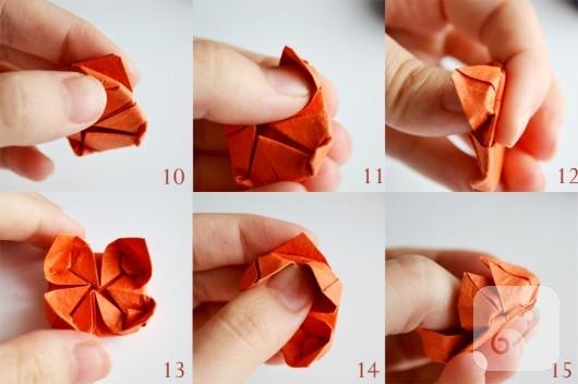 Origami nilüfer yapımı