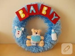 Bebek kapı süsü, ayıcıklı