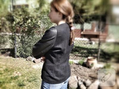 Deri kollu ceket