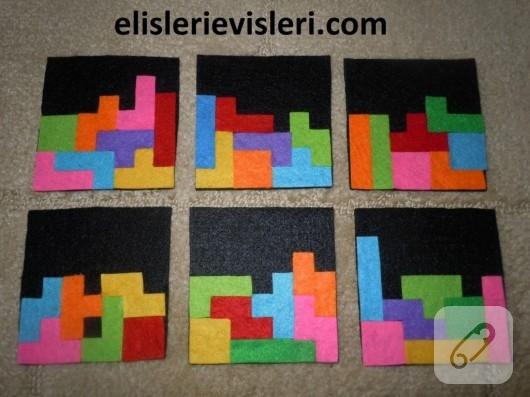 Tetris bardak altlıkları