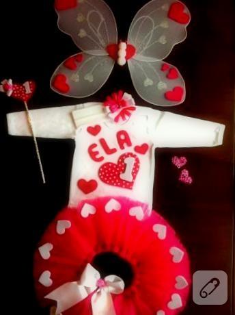 Ela'nın 1. yaş günü için hazırlanmış kalp tütü : )