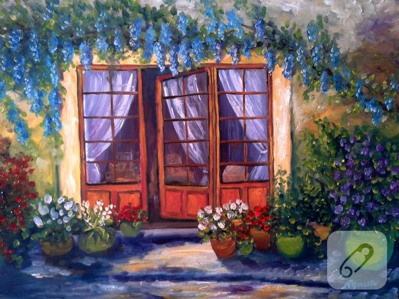 kapı resim yagliboya