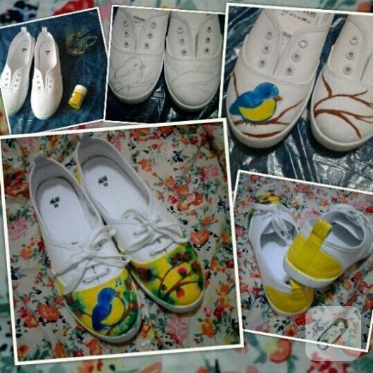 kumas-boyasi-ile ayakkabi-yenileme