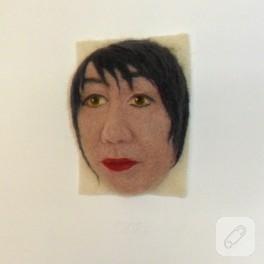 Keçe iğneleme portre