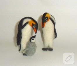 Keçe iğneleme penguenler