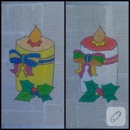 Gazeteye resim yapma çalışması (çocuk faaliyetleri)