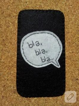Keçe telefon kılıfı – Bla, Bla, Bla…