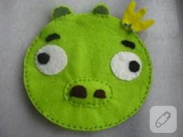 Keçeden Angry Birds cüzdan