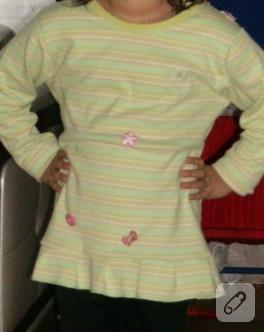 Annenin bluzu küçük kızına tunik oldu