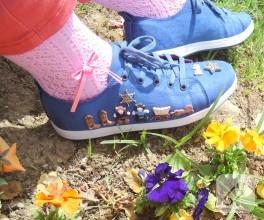 Kovboy temalı keten ayakkabım