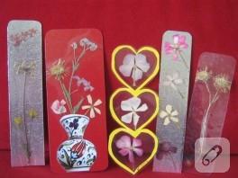 Kurumuş çiçeklerden ayraç yapımı
