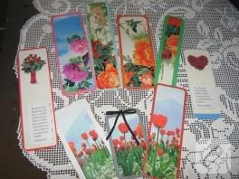 Dergilerden çiçekli ayraçlar