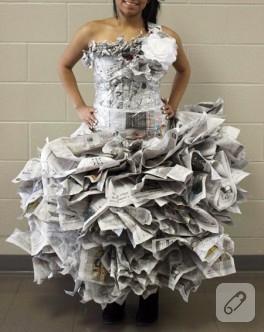 Gazeteden elbise