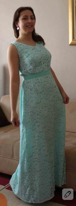 Mint yeşili elbisem