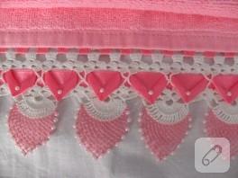 İğne oyası dantel havlu kenarı