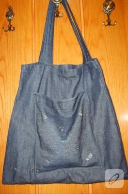 Anne tazında kot çanta
