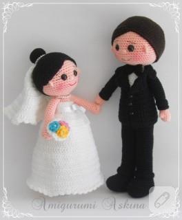 Yeni gelin damat çiftimiz (amigurumi oyuncaklar)