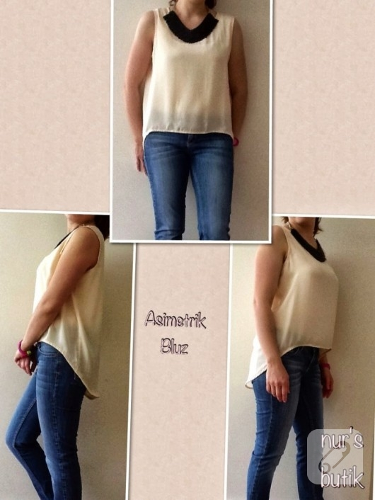 asimetrik bluz