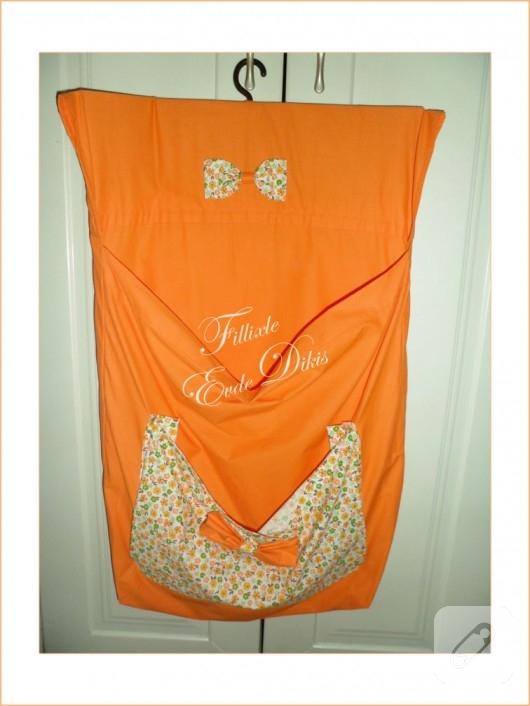 Kumaş çamaşır torbası