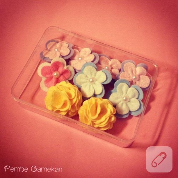 mini çiçek tokalar
