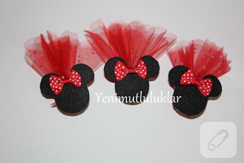 mini mouse ,keçe bebek şekeri,miki mouse, kına gecesi