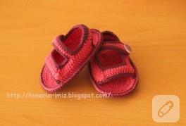 Sandalet patik yapılışı