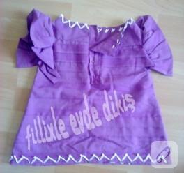 Melek kanatlı mor bebek elbisesi