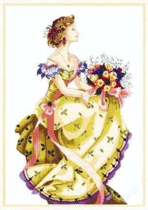 Kanaviçe pano bahar kraliçesi