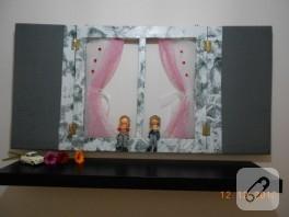 Çocukı odası için el yapımı pano