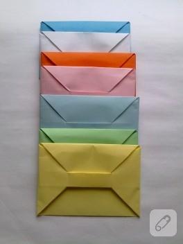 Origami renkli zarflar