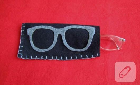 Keçeden gözlük kılıfı