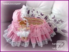 Keçe balerin bebek şekeri sepeti