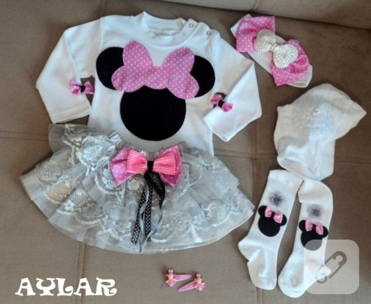 Minnie Mouse tütü takımı