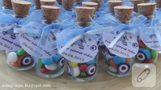 cam şişe sünnet şekerleri